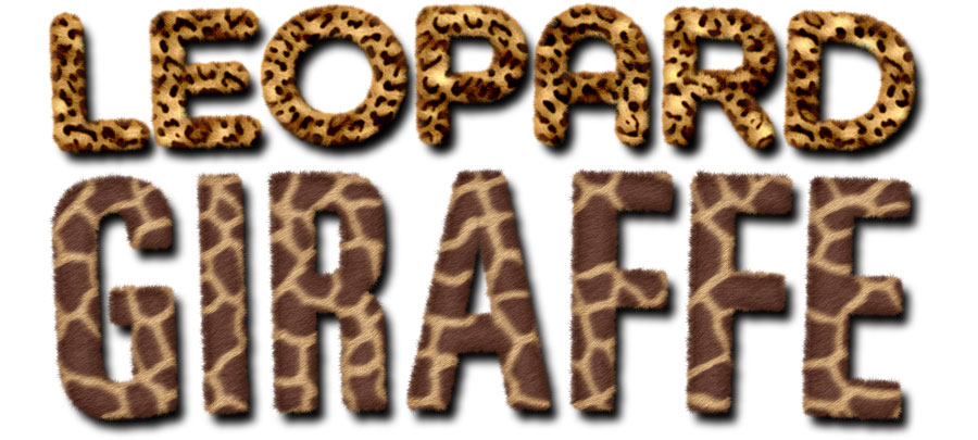 furry animal text effects