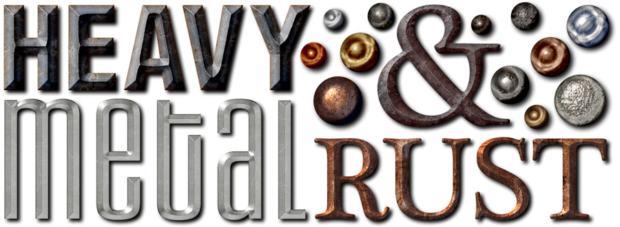 rusty metal text effects